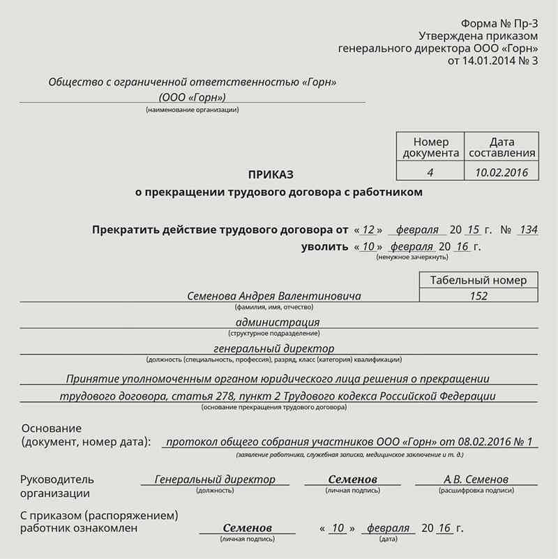 Расторжение трудового договора с главным бухгалтером при смене руководителя организации должностные обязанности бухгалтера кассира