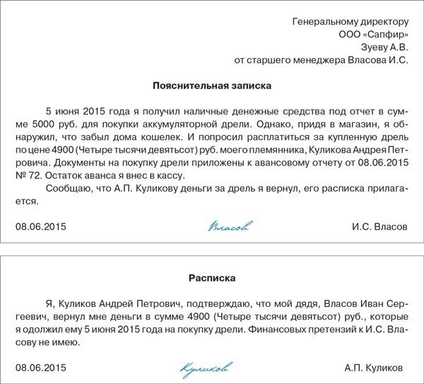 приказ о подотчетных лицах 2013 образец
