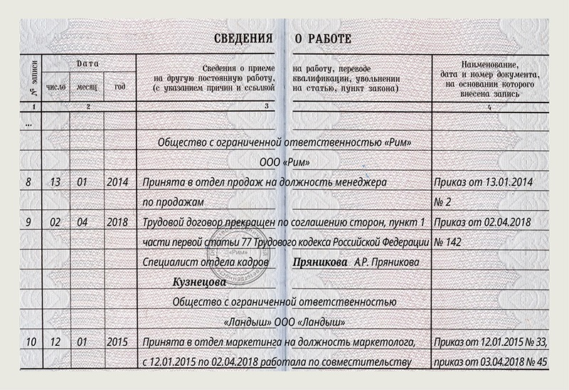 Отпуск внешним совместителям: ТК РФ