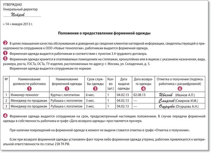 Положение По Форменной Одежде Образец img-1