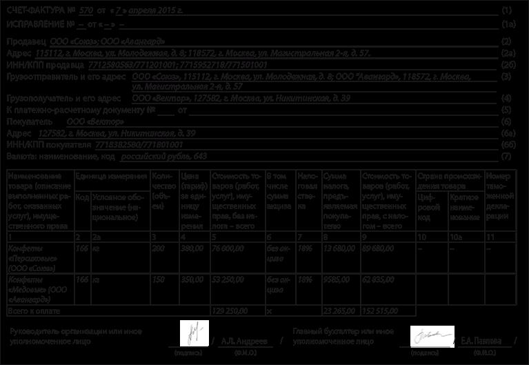 счет-фактура комитента образец - фото 3