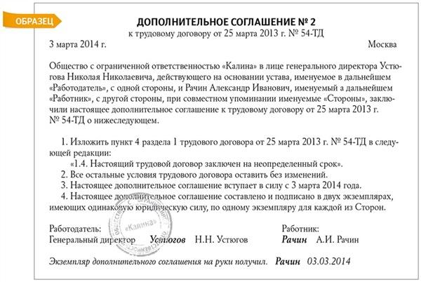 дополнительное соглашение об изменение реквизитов образец